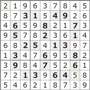 3月のナンプレパズル