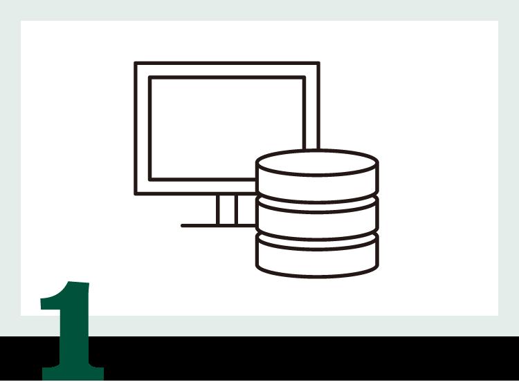 サーバ調達・構築が不要、導入・開発の期間を短縮し、素早く蔵書データを構築します。