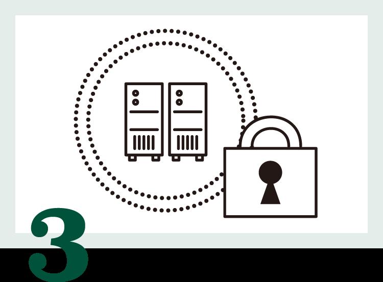 Microsoft Azureの堅牢なデータセンターで不正アクセス、盗難、機材の故障、天災から個人情報・蔵書を守ります。