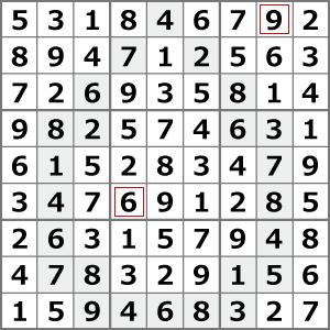 6月のナンプレパズル解答