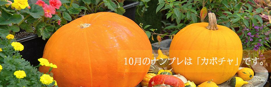 2017年10月のナンプレは「カボチャ」の形です。