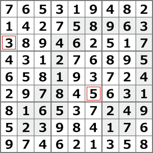 11月のナンプレパズル解答