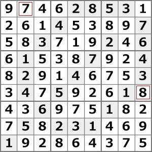 5月のナンプレパズル解答