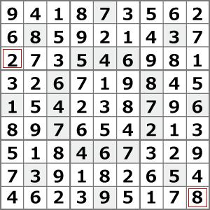 8月のナンプレパズル解答