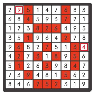 7月のナンプレパズル解答
