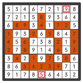 10月のナンプレパズル解答