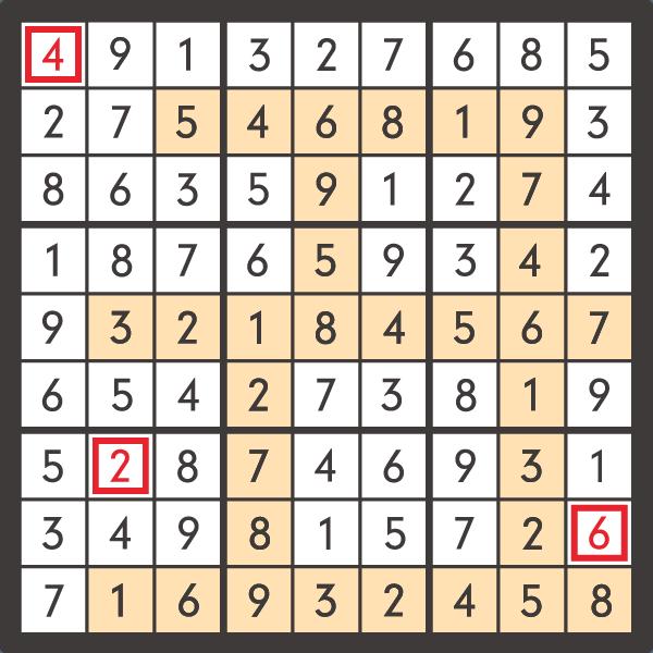 1月のナンプレパズル解答