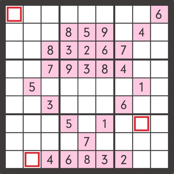 8月のナンプレパズル問題