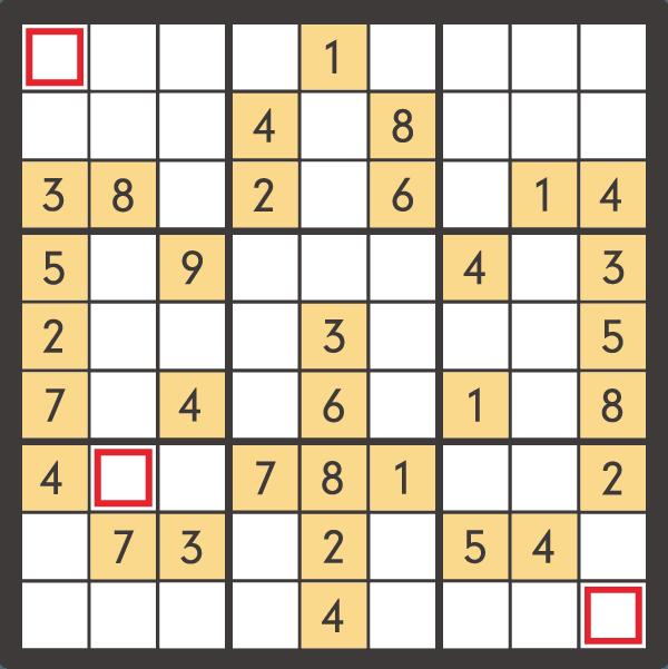 9月のナンプレパズル問題